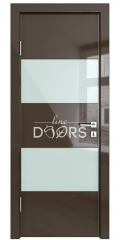 Дверь межкомнатная DO-508 Шоколад глянец/стекло Белое