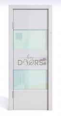 ШИ дверь DO-608 Белый глянец/стекло Белое