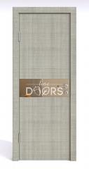 ШИ дверь DO-609 Серый дуб/зеркало Бронза