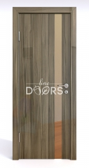 ШИ дверь DO-607 Сосна глянец/зеркало Бронза