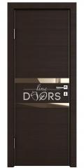 ШИ дверь DO-613 Венге горизонтальный/зеркало Бронза