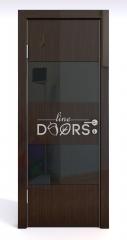 Дверь межкомнатная DO-508 Венге глянец/стекло Черное