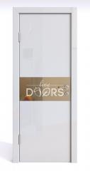 Дверь межкомнатная DO-501 Белый глянец/зеркало Бронза