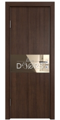 Дверь межкомнатная DO-501 Мокко/зеркало Бронза