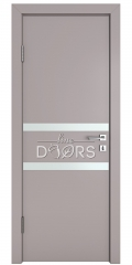 Дверь межкомнатная DO-513 Серый бархат/Снег