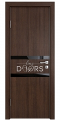 ШИ дверь DO-613 Мокко/стекло Черное