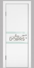 ШИ дверь DO-613 Белый бархат/стекло Белое
