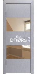 Дверь межкомнатная DO-508 Металлик/зеркало Бронза