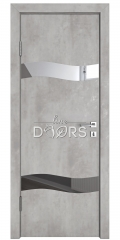 Дверь межкомнатная DO-503 Бетон светлый/Зеркало