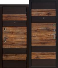 Входная дверь Ferroni 9,5 см ОКСФОРД Венге темный / Дуб бомонд лофт