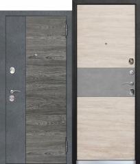 Входная дверь Ferroni 9,5 см ОРЛАНДО Бетон графит, Вяз каньон вековой / Дуб винтаж белый, бетон серый