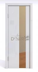Дверь межкомнатная DO-504 Белый глянец/зеркало Бронза