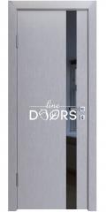 Дверь межкомнатная DO-507 Металлик/стекло Черное