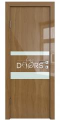 Дверь межкомнатная DO-512 Анегри темный/стекло Белое