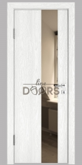 Дверь межкомнатная DO-504 Белый глубокий/зеркало Бронза