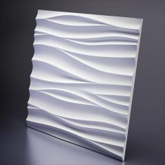 Гипсовая 3D панель SILK 1 Platinum материал глянец 600x600x20 мм