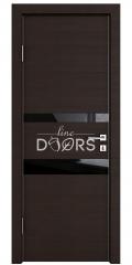 ШИ дверь DO-612 Венге горизонтальный/стекло Черное