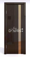 Дверь межкомнатная DO-507 Венге глянец/зеркало Бронза