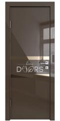ШИ дверь DO-613 Шоколад глянец/зеркало Бронза
