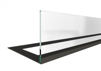 Стекло декоративное для биокамина серии Standart 620 для встраивания в портал