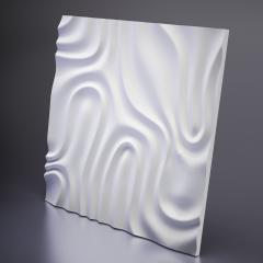Гипсовая 3D панель FOGGY 2 650x650x24 мм