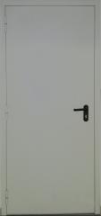 Техническая металлическая однопольная глухая дверь