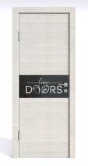 ШИ дверь DO-601 Ива светлая/стекло Черное