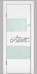 ШИ дверь DO-608 Белый бархат/стекло Белое