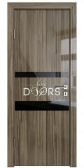 Дверь межкомнатная DO-512 Сосна глянец/стекло Черное