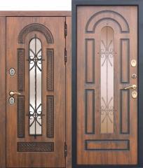 Входная морозостойкая дверь Ferroni c ТЕРМОРАЗРЫВОМ 13 см VITRA Винорит Патина (Израиль)