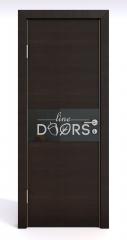 Дверь межкомнатная DO-501 Венге горизонтальный/стекло Черное