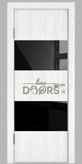 ШИ дверь DO-608 Белый глубокий/стекло Черное