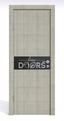 ШИ дверь DO-609 Серый дуб/стекло Черное
