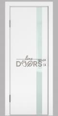 ШИ дверь DO-607 Белый бархат/стекло Белое