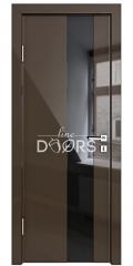 ШИ дверь DO-604 Шоколад глянец/стекло Черное