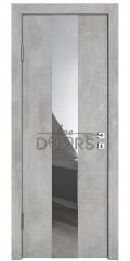 ШИ дверь DO-610 Бетон светлый/Зеркало