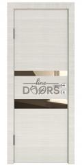 Дверь межкомнатная DO-512 Ива светлая/зеркало Бронза