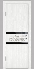 Дверь межкомнатная DO-513 Белый глубокий/стекло Черное