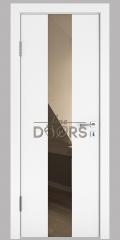 Дверь межкомнатная DO-510 Белый бархат/зеркало Бронза